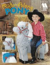 Ride Along Pony Plastic Canvas Ride Saddle Cowboy Buckaroo Fun Toy Htf Oop New