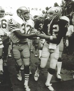 KEN STABLER & OJ SIMPSON 8X10 PHOTO OAKLAND RAIDERS 49ers PICTURE NFL FOOTBALL
