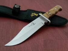 ER101 Couteau de Chasse Elk Ridge Lame Acier 440 Manche Bois Etui Nylon