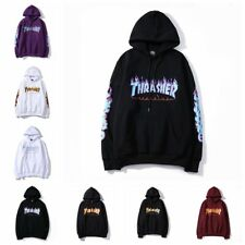 Felpa Hoodie Sweatshirt thrasher flame replica taglie S-XL skateboard trasher
