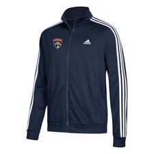 Florida Panthers NHL Men's High Def Team Logo Navy Blue 3-Stripe Track Jacket