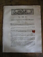 LOI relative à l'organisation d'une police municipale 1791