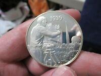 Silver Medal, 1939 NY World fair, Television Revolution, 1.05 Troy Oz. Sterling