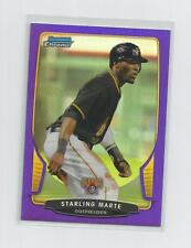 2013  Bowman Chrome   STARLING MARTE   Purple Refractor  187/199