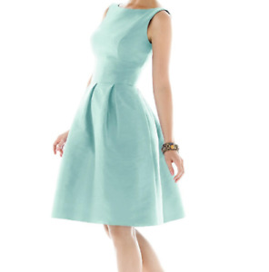 Alfred Sung teal A-line cocktail dress, worn once still has tags, has pockets