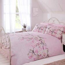 Eloise Floral Blossom Duvet Cover/Quilt Cover Set Bedding Duck Egg, Pink, Grey