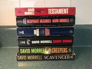 Lot of 6 David Morrell Paperback Books – Scavenger ~ Creepers ~ Testament