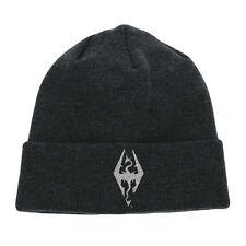The Elder Scrolls V Skyrim Logo Embroidered Cuffed Beanie | One Size Dark Grey