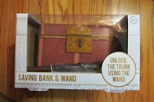 Harry Potter Savings Bank & Wand~Chest with Wand Key~Brand New