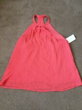 H&M Red High Neck Sleeveless Flowing Top S UK 6