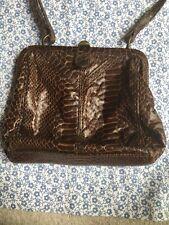 Mock Snakeskin Crocodile Miss Selfridge Brown Bag