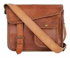 Bag Leather Vintage Messenger Shoulder Women's Satchel Laptop School Briefcase