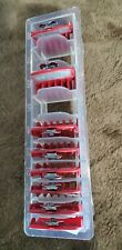 Premium Cutting Clipper metal clip Guides  Guards Pack of 8 RED with case