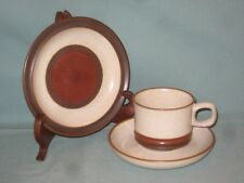 Denby Potters WHEEL TRIO TAZZA PIATTINO Tè PIASTRA LATERALE & Crema con centro Abbronzatura