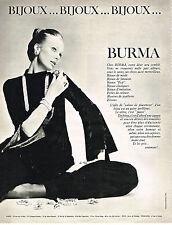 PUBLICITE  1970   BURMA   bijoux