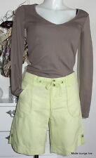 Esprit Shorts Leinen Hose Pants 40 L New York stretch grün apple green Baumwolle