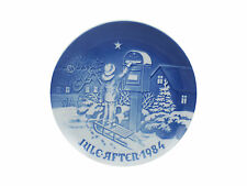"""Bing & Grondahl 1984 Christmas Plate """"The Christmas Letter"""" Mint Condition"""