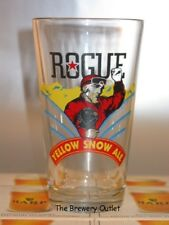 """Rogue Yellow Snow Ale Bar Pub Beer Glass 5 3/4"""" tall"""