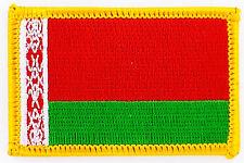 AUFNÄHER Patch FLAGGEN flagge Weißrussland weissrussland    flag Fahne  7x4.5cm