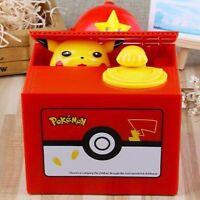 NEW Creative Eating Money Cat Piggy Bank Music Electric Coin Steal Money Pikachu