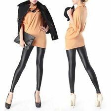 Sexy Women Faux PU Leather Leggings Skinny Pencil Pants Tights Trousers YW