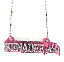 Name Plate Custom Name Necklace Princess Crown Nameplate Laser Cut Diamond Look