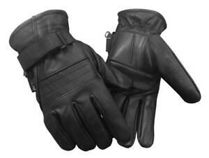Redline Men's Anti-Vibration Gel Palm Gator Lining Leather Gloves, Black G-056GS