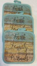 New listing Faith Family Friends Hot Pads - 3 Piece Set