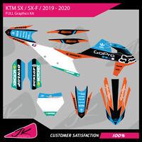 KTM SX / SXF / 125 250 350 450 / 2019 2020 Motocross MX Graphics Kit
