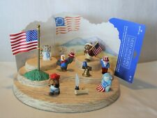 Hallmark 4th July Merry Miniature Lot Bell Betsy Patriot Sam Bear Flag Liberty
