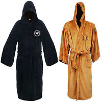 Men's Robe Star Wars Sleepwear Jedi Knig Hooded Fleece Bathrobe Cloak Gown Coat