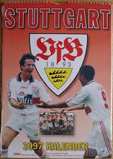 VfB Stuttgart Kalender 1997 Spiralbindung 30 x 42 cm 12 Poster zum Rautrennen