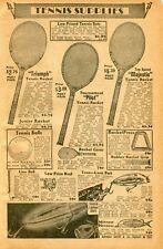 1940 Print Ad of Tennis Racket Triumph Pilot & Majestic, Fishing Lure Electric