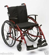 Enigma Spirit Lightweight Aluminium Folding Self Propelled Wheelchair Red