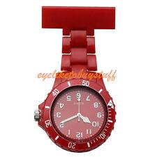 Fashion Red Plastic Rotatable Bezel Analog Quartz Wristwatch Nurses Watch Gift