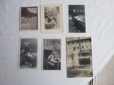 """Lots de 6 photographies anciennes """" poussettes, maman, bébés, nurse """""""