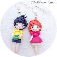 Orecchini Ponyo & Sōsuke Cute Miyazaki Ghibli Earrings Fimo Polymer Clay Kawaii