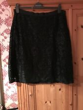 Laura Adhley Black Lace Skirt Size 18 Vgc Worn Once