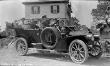 DRIVER, GROUP in EARLY PACKARD TOURING CAR c.1910 - 3.5 x 5.5 Film Negative