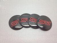 4PCS STI Wheel Center Hub Cap Emblem Badge Decal Sticker Fit For Subaru 56.5mm
