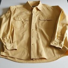 Cabela's Outdoor Gear Mens Shirt Long Sleeve Gold Button Down Size Large