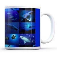 Marine Life Collage - Drinks Mug Cup Kitchen Birthday Office Fun Gift #8936