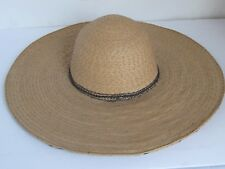 Vintage  Mexican  Straw Sombrero Finely Woven and Excellent
