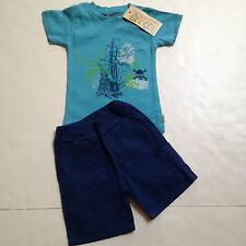 Charlie Rocket Boutique Brand Boys Short Set Size 12-18mo~Pirate Ship~New