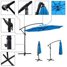 10Ft Outdoor Patio Sun Shade Umbrella Cantilever Hanging Offset Crank Canopy US