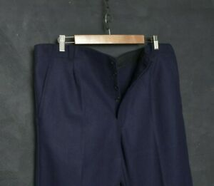 VTG French Worker Men Peasant Pant W38 Workwear Wool Trouser Chore Nautical Army