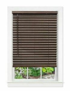 Achim GII Luna Mahogany Cordless Venetian Blind width Varies length is 64 in.