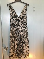 Scanlan & Theodore black and white silk dress in size 12