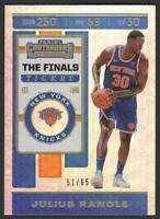 2019-20 Panini Contenders THE FINALS Ticket 53 Julius Randle /65 New York Knicks