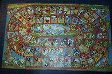 Ancien plateau  jeu de l'oie enfantin - BAMBINS BLONDS & animaux